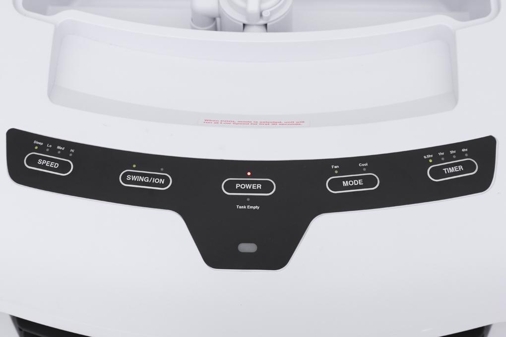 Quạt dễ dàng thao tác với bảng điều khiển trên thân quạt - Quạt điều hòa Honeywell CL25AE