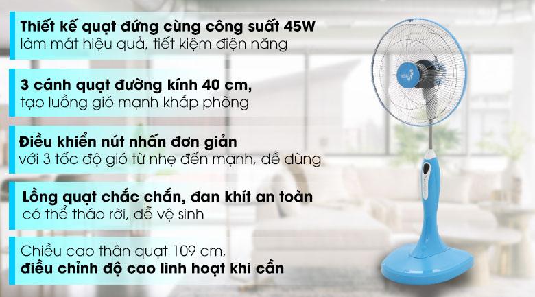 Quạt đứng Asia D16018-BV0