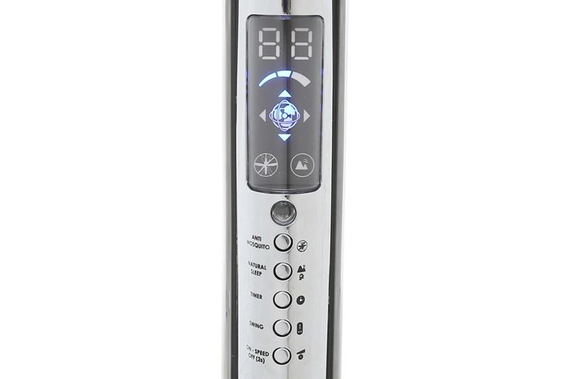 Bảng điều khiển nút nhấn trên thân quạt có các nút nhấn với chỉ dẫn rõ ràng - Quạt đứng điều khiển Asia D16024