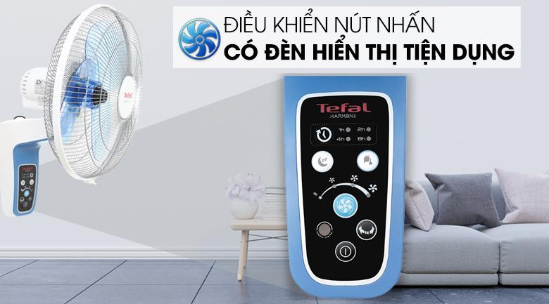 Quạt treo Tefal VF3670-71 - Bảng điều khiển có đèn tiện dụng