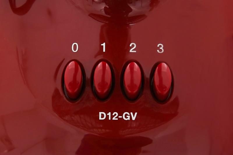Quạt thiết lập 3 tốc độ gió từ nhẹ đến mạnh - Quạt bàn Mitsubishi D12-GV CY-RD đỏ đậm