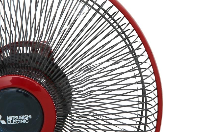 Lồng quạt đan khít - Quạt bàn Mitsubishi D12-GV CY-RD đỏ đậm