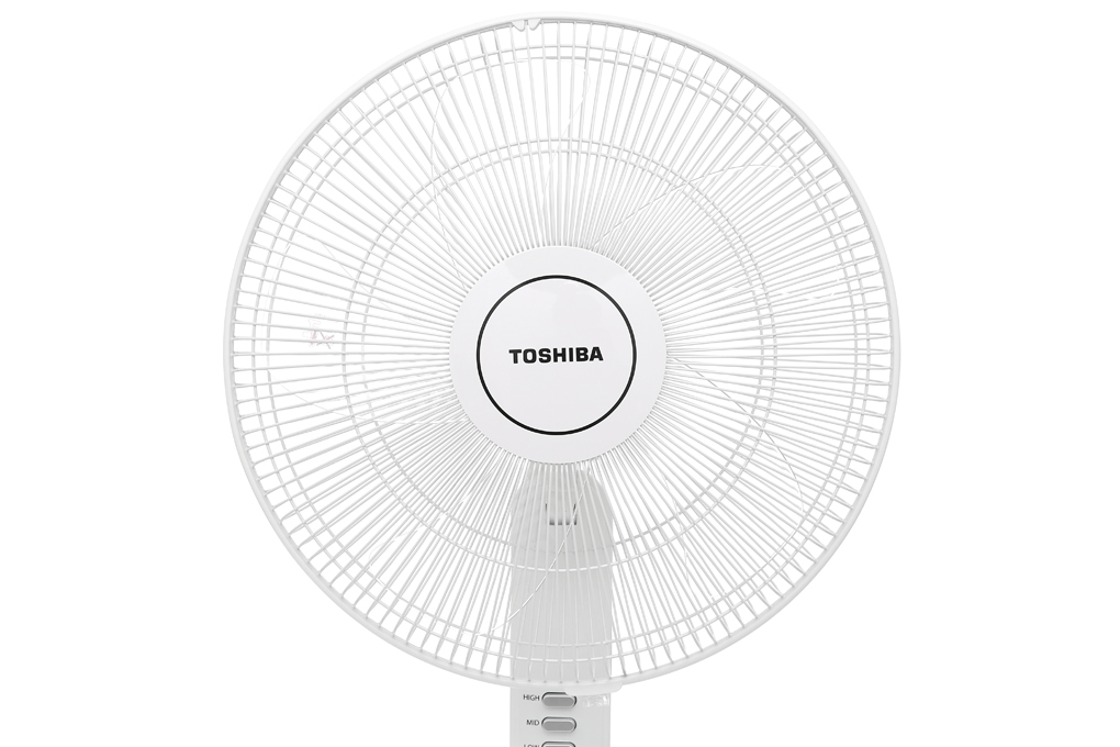 Có 5 cánh quạt - Quạt đứng Toshiba F-LSA10(W)VN Trắng