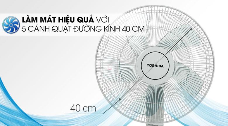 Quạt đứng Toshiba F-LSA10(H)VN Xám - Đường kinh cánh quạt 40cm làm mát hiệu quả