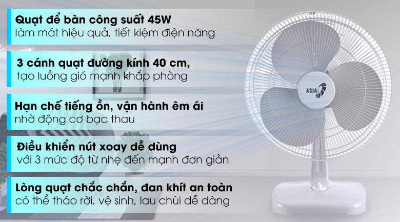 Quạt bàn Asia B16001-XV1