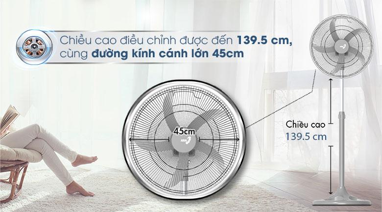 Cánh quạt 45 cm - Quạt đứng Asia D18004-XV1 Xám