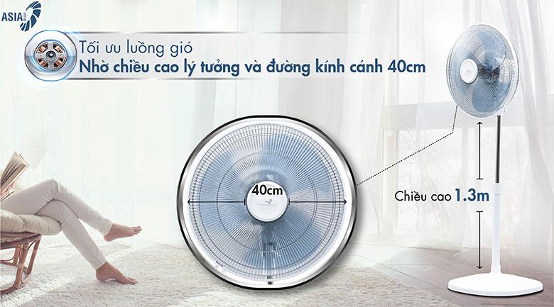 Lồng quạt đan khít - Quạt đứng Asia D16027-TV0 Trắng