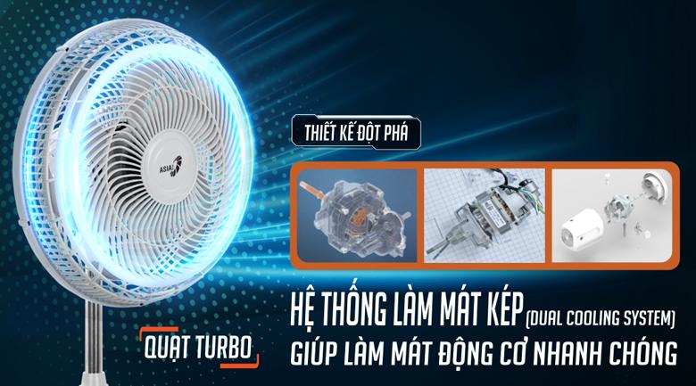 Quạt đứng Asia DTB1601-XV0 - Tích hợp hệ thống làm mát kép (Dual Cooling System)