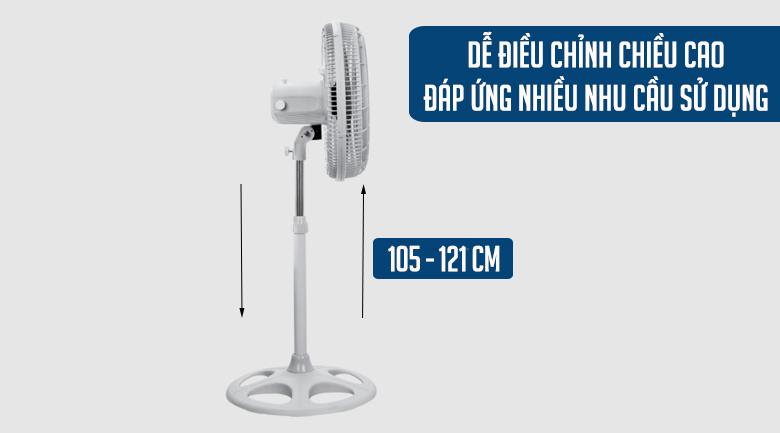 Quạt đứng Asia DTB1601-XV0 - Quạt đứng Asia điều chỉnh chiều cao linh hoạt