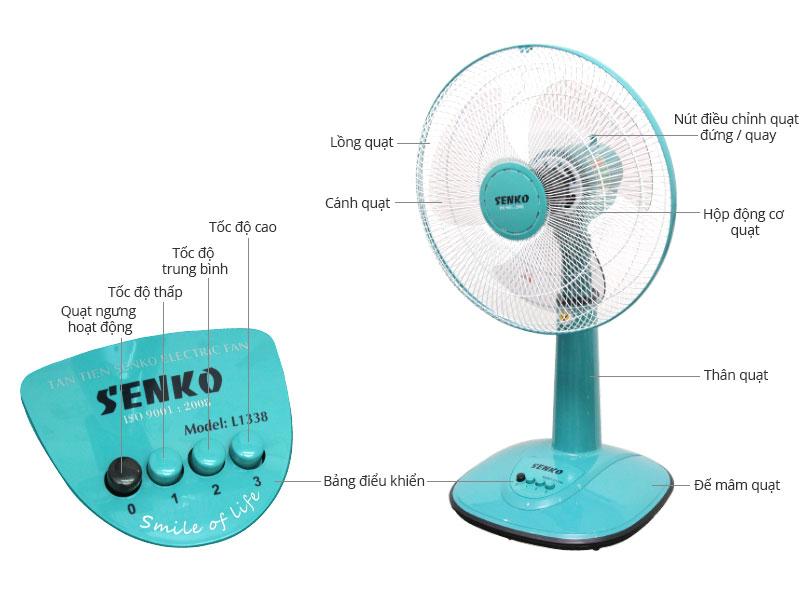 Thông số kỹ thuật Quạt lửng Senko L1338
