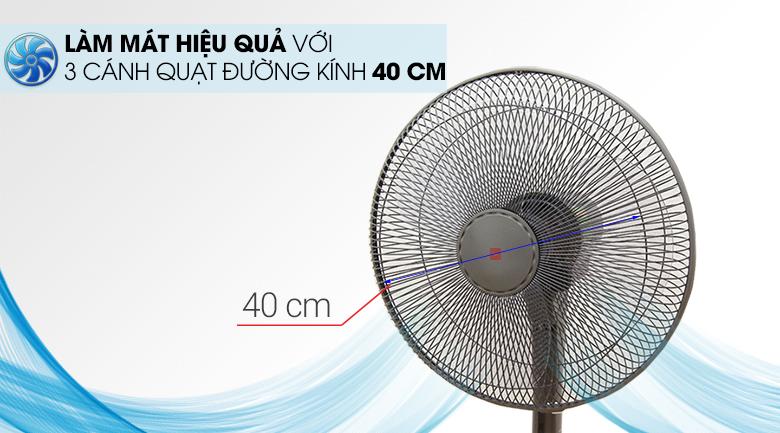 Quạt đứng KDK M40K Xám GY - Đường kính lồng quạt 40cm giúp thổi mát hơn