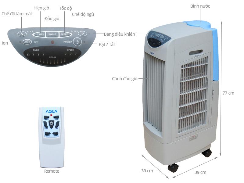 Thông số kỹ thuật Quạt hơi nước Aqua AREF-B100MK3A