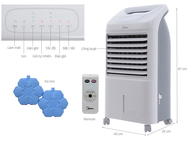 Thông số kỹ thuật Quạt điều hòa Midea AC100-U