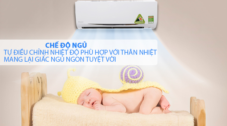 Chế độ ngủ - Máy lạnh Daikin Inverter 1 HP FTKC25RVMV