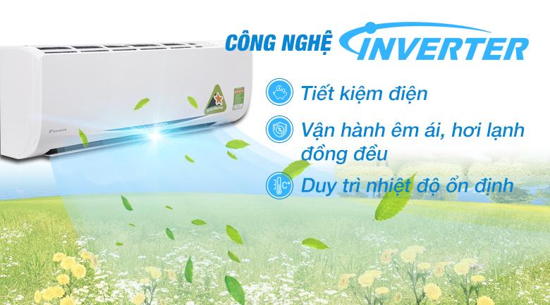 Công nghệ Inverter - Máy lạnh Daikin Inverter 1 HP FTKC25RVMV