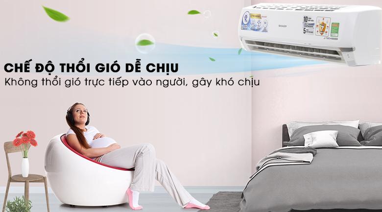 Chế độ Gentle Cool Air - Máy lạnh Sharp inverter 2HP AH-X18UEW