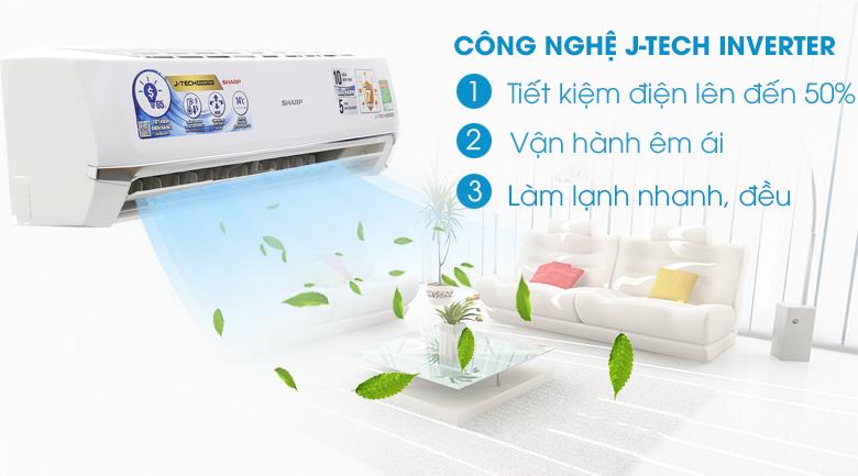 Công nghệ JTech Inverter - Máy lạnh Sharp inverter 2HP AH-X18UEW