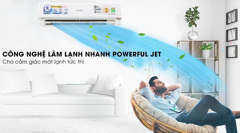 Công nghệ Powerful Jet - Máy lạnh Sharp inverter 2HP AH-X18UEW