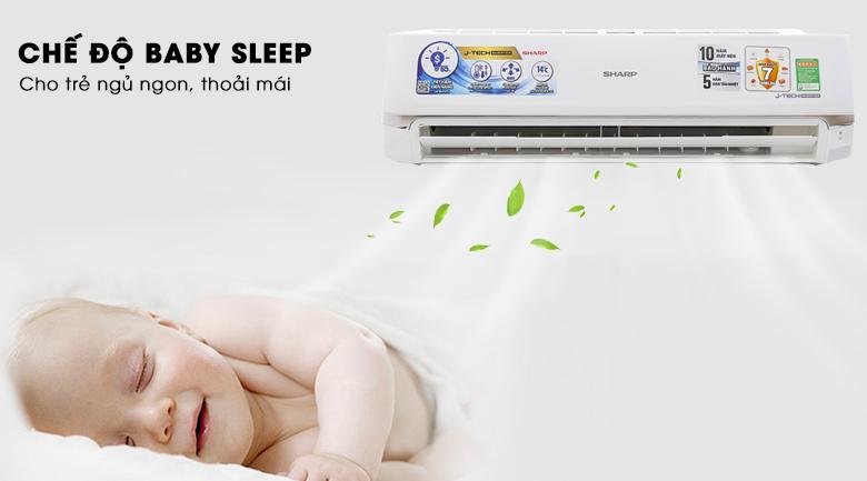 Chế độ Baby Sleep - Máy lạnh Sharp inverter 2HP AH-X18UEW