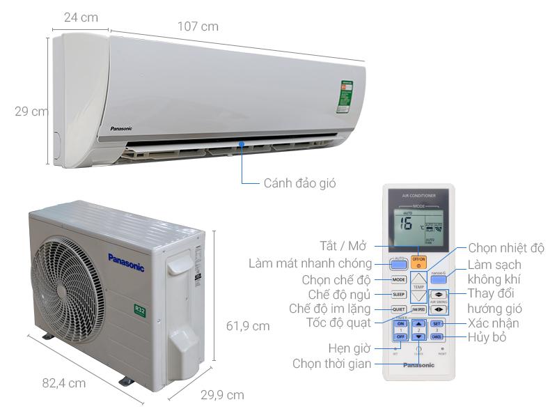 Thông số kỹ thuật Máy lạnh Panasonic 2.5 HP CU/CS-N24TKH-8