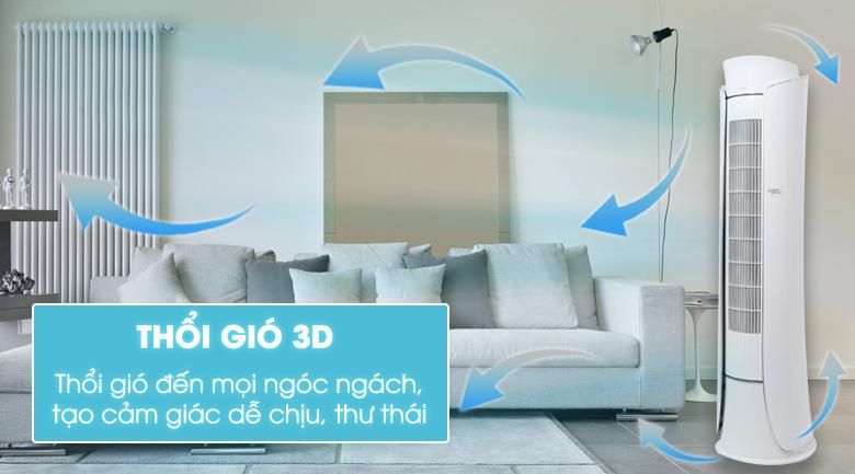 Chế độ gió 3D cho luồng khí lạnh luân chuyển đến mọi ngóc ngách trong phòng