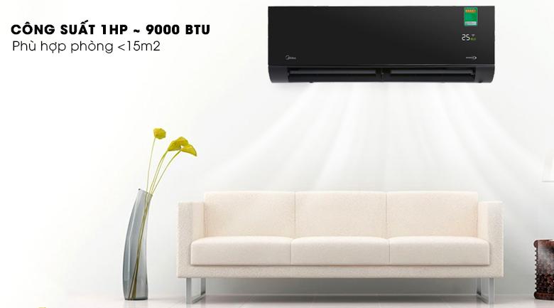 Công suất làm lạnh 1 HP - Máy lạnh Midea Inverter Wifi 1 HP MSVP-10CRDN1