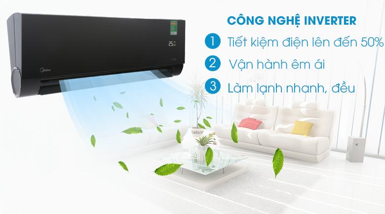 Máy lạnh Inverter - Máy lạnh Midea Inverter Wifi 1 HP MSVP-10CRDN1