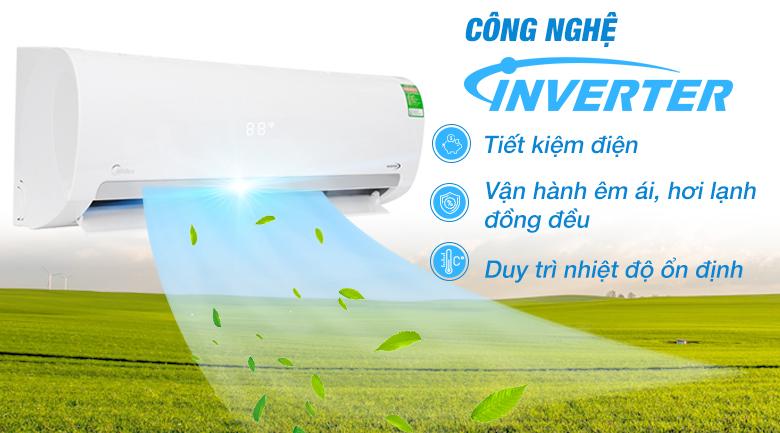 Máy lạnh Inverter - Máy lạnh Midea Inverter 1 HP MSMAIII-10CRDN1