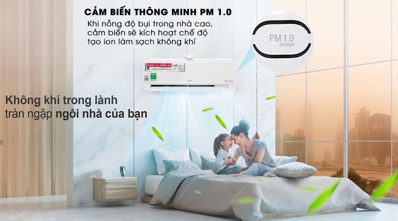 Cảm biến bụi thông minh PM 1.0 - Máy lạnh LG Wifi Inverter 1 HP V10APF