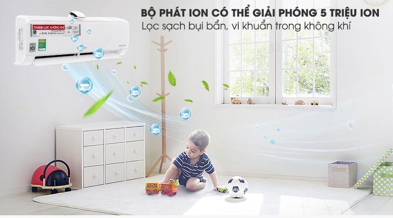 Bộ tạo phát Ion - Điều hòa LG Wifi Inverter 9000 BTU V10APF