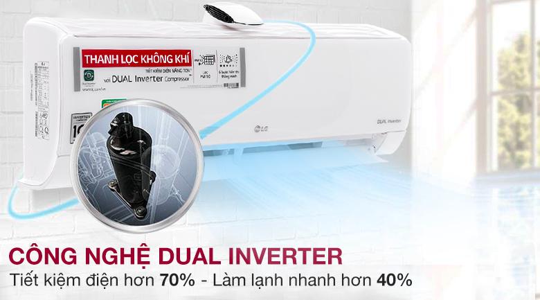 Máy nén Dual Inverter - Máy lạnh LG Wifi Inverter 1 HP V10APF