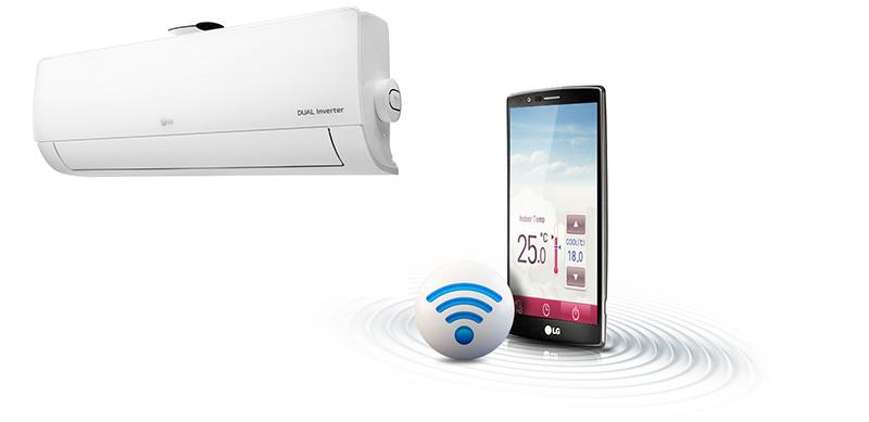 Kết nối wifi, điều khiển bằng điện thoại