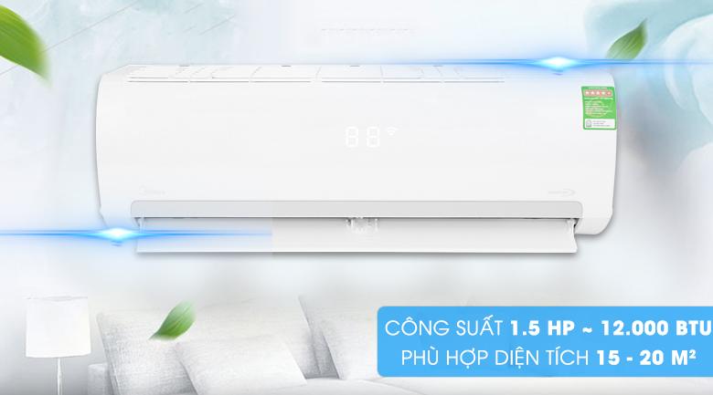 Công suất làm lạnh 1.5 HP - Máy lạnh Midea Inverter 1.5 HP MSMAIII-13CRDN1