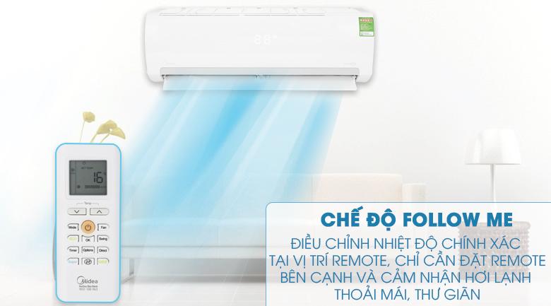 Follow me - Máy lạnh Midea Inverter 1.5 HP MSMAIII-13CRDN1