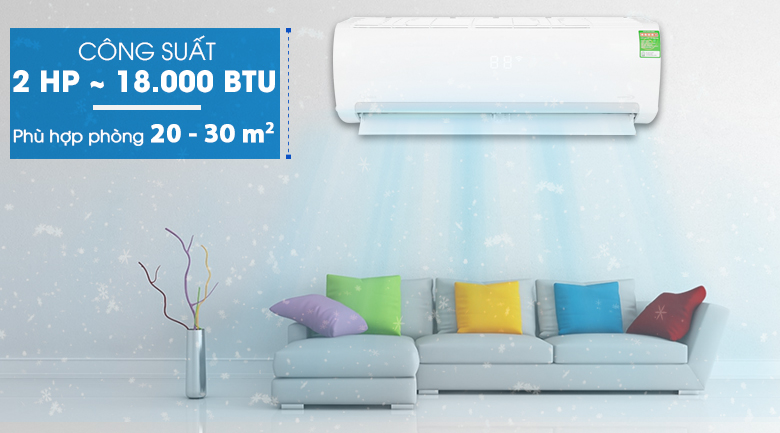 Công suất 2 HP - Máy lạnh Midea Inverter 2 HP MSMAIII-18CRDN1