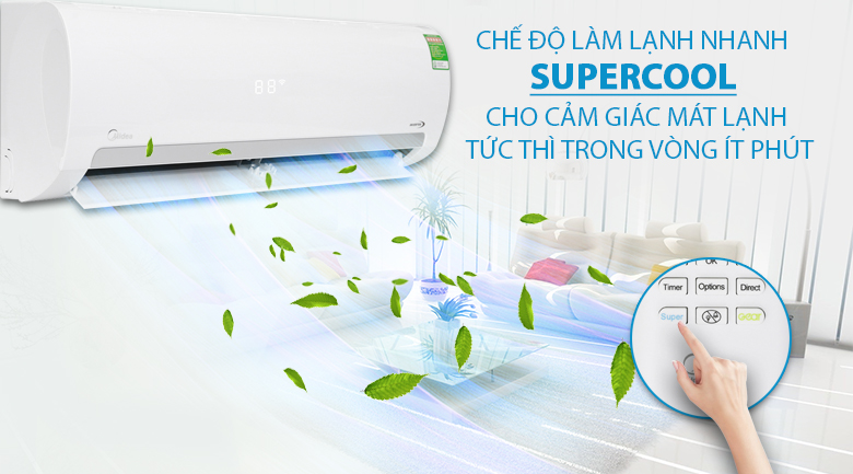 Super Cool - Máy lạnh Midea Inverter 2 HP MSMAIII-18CRDN1