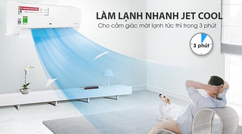 Làm lạnh nhanh - Máy lạnh LG Wifi Inverter 1 HP V10API