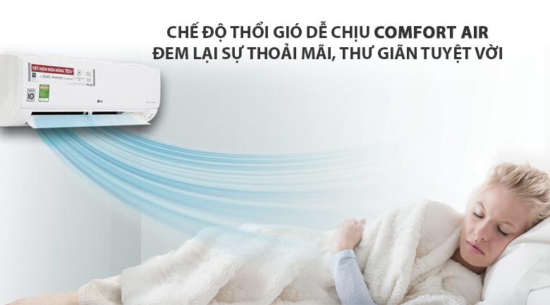 Chế độ vận hành khi ngủ - Máy lạnh LG Wifi Inverter 1 HP V10API