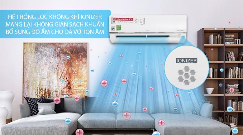 Hệ thống lọc không khí - Máy lạnh LG Wifi Inverter 1 HP V10API