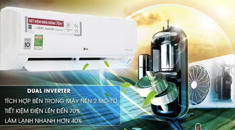 Công nghệ Dual Inverter - Máy lạnh LG Wifi Inverter 1.5 HP V13API