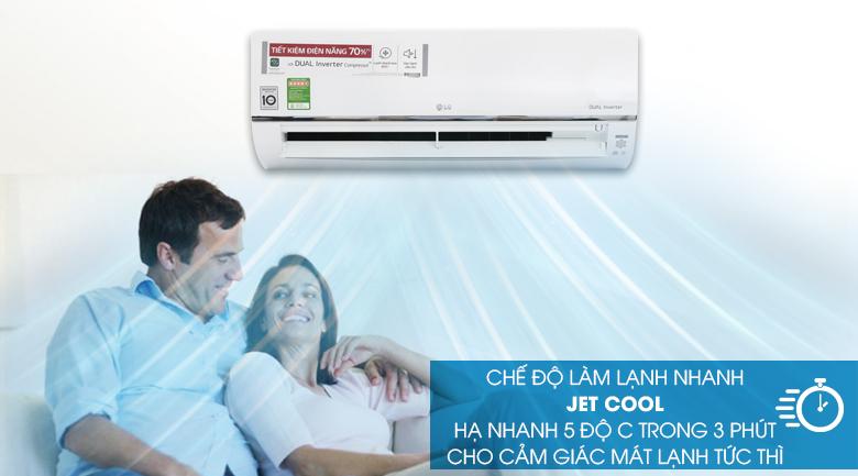 Chế độ Jet Cool - Máy lạnh LG Wifi Inverter 1.5 HP V13API