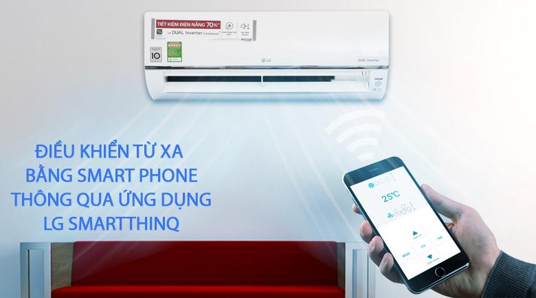 Điều khiển từ xa bằng Smartphone - Máy lạnh LG Wifi Inverter 1.5 HP V13API
