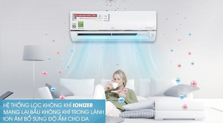 Hệ thống lọc khí Ionizer - Máy lạnh LG Wifi Inverter 1.5 HP V13API