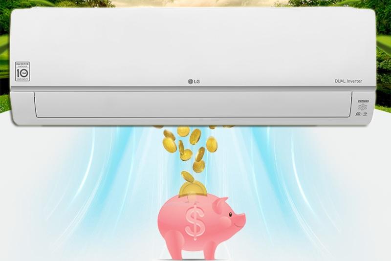 Công nghệ Dual Inverter tiết kiệm điện, làm lạnh nhanh, vận hành êm