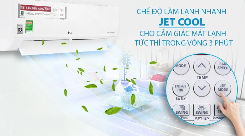 Làm lạnh nhanh - Máy lạnh LG Inverter 1.5 HP V13ENF