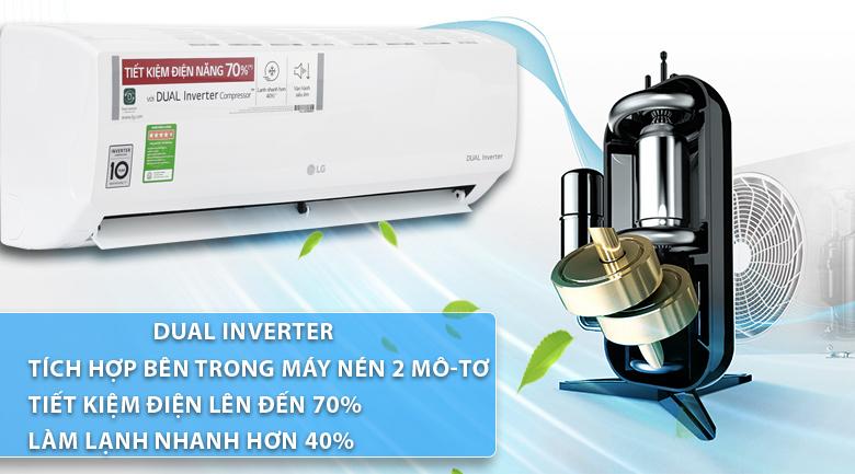 Công nghệ Dual Inverter - Máy lạnh LG Inverter 2.5 HP V24ENF
