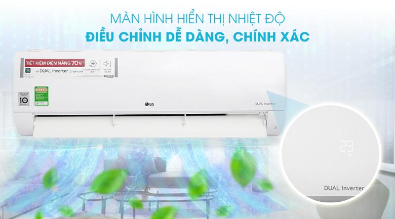 Máy lạnh LG Inverter 2 HP V18ENF - Màn hình hiển thị nhiệt độ