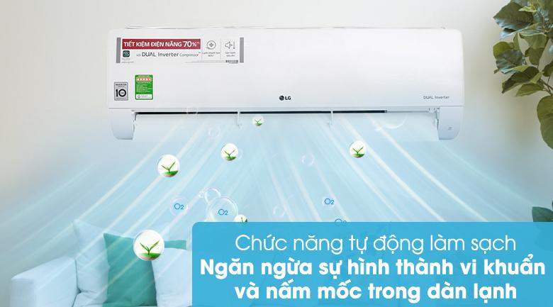 Máy lạnh LG Inverter 2 HP V18ENF -Chức năng tự động làm sạch