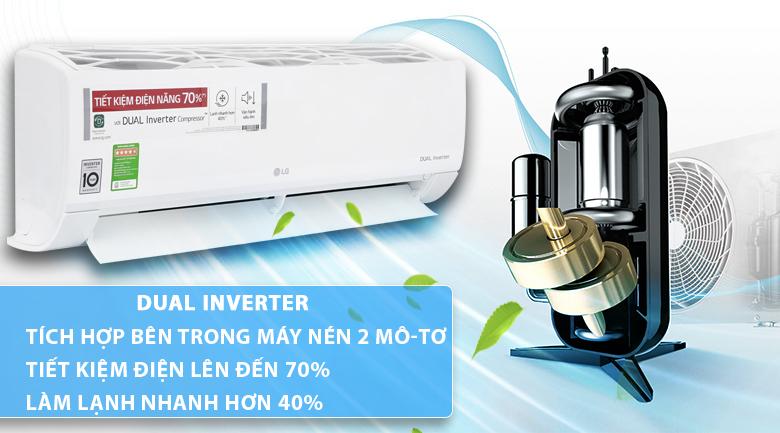 Dual Inverter - Máy lạnh LG Inverter 1.5 HP V13ENS