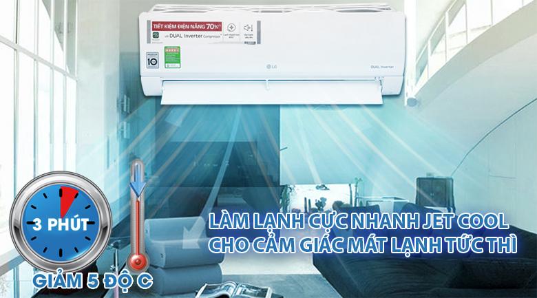 Jet cool - Máy lạnh LG Inverter 1.5 HP V13ENS
